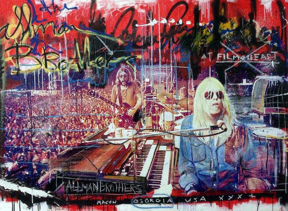 allman brothers Kunstenaar artist nick twaalfhoven popart neopop moderne kunst rock art music art muziek kunst