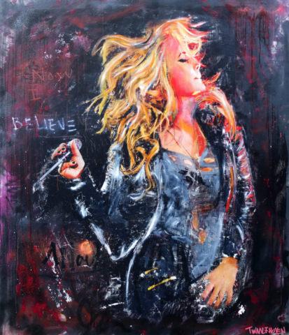 Kunstenaar anouk artist nick twaalfhoven popart neopop moderne kunst rock art music art muziek kunst