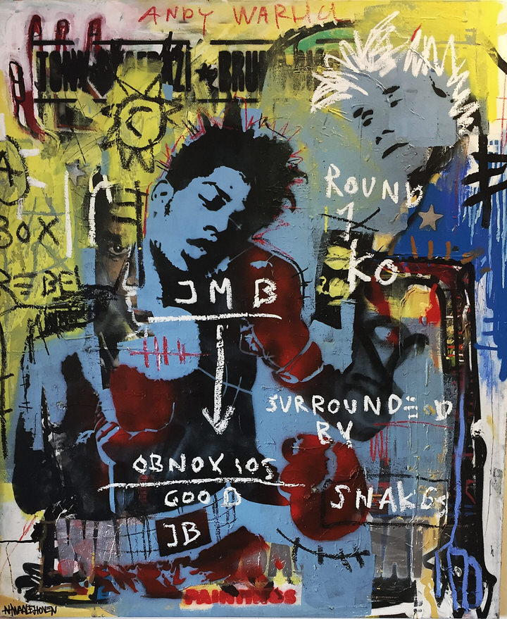 basquiat Kunstenaar artist nick twaalfhoven popart neopop moderne kunst rock art music art muziek kunst