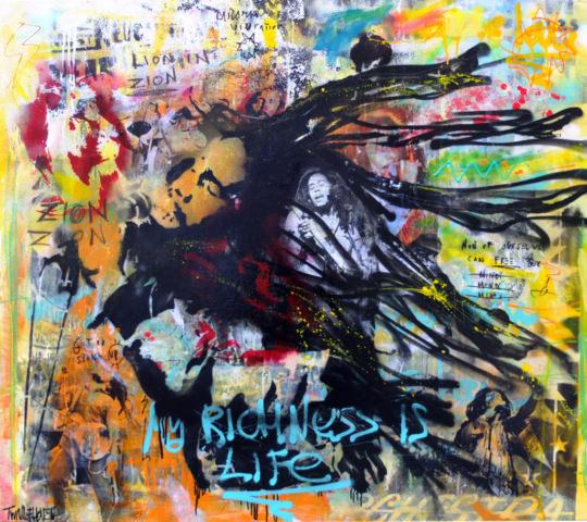 bob marley Kunstenaar artist nick twaalfhoven popart neopop moderne kunst rock art music art muziek kunst