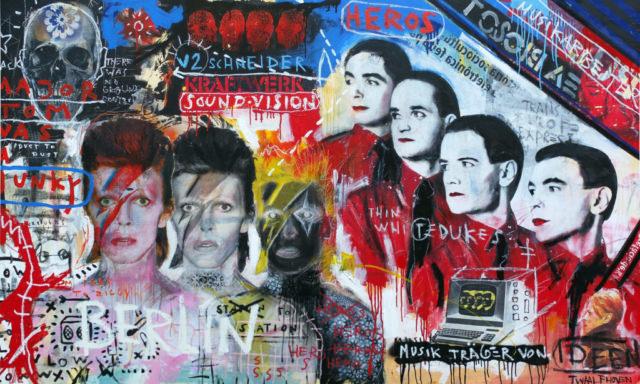 david bowie kraftwerk Kunstenaar artist nick twaalfhoven popart neopop moderne kunst rock art music art muziek kunst