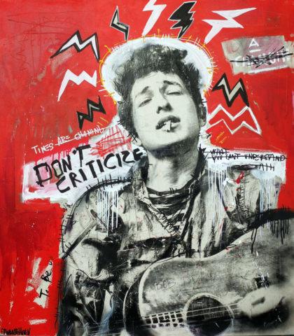 bob dylan Kunstenaar artist nick twaalfhoven popart neopop moderne kunst rock art music art muziek kunst