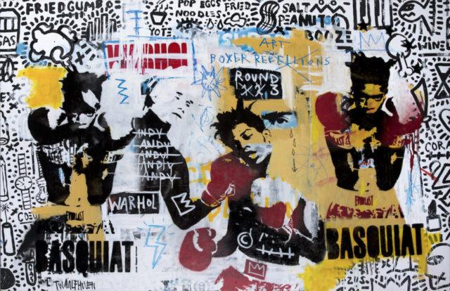 basquiatKunstenaar artist nick twaalfhoven popart neopop moderne kunst rock art music art muziek kunst