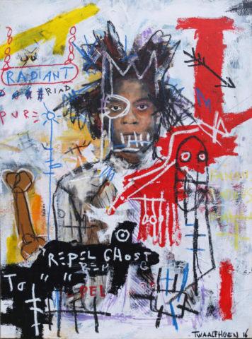 jean michel basquiat Kunstenaar artist nick twaalfhoven popart neopop moderne kunst rock art music art muziek kunst
