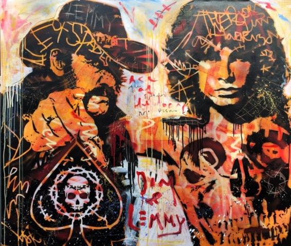 lemmy motorhead jim morrison Kunstenaar artist nick twaalfhoven popart neopop moderne kunst rock art music art muziek kunst