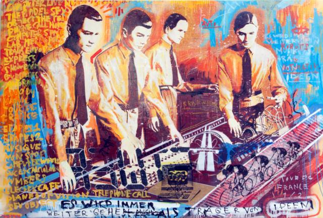 kraftwerk Kunstenaar artist nick twaalfhoven popart neopop moderne kunst rock art music art muziek kunst