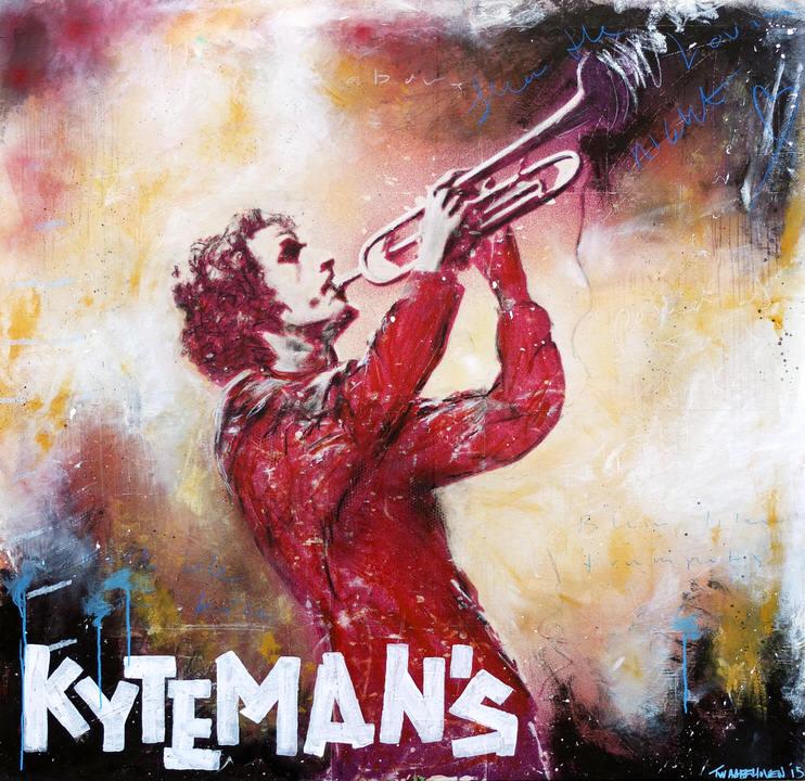 kyteman Kunstenaar artist nick twaalfhoven popart neopop moderne kunst rock art music art muziek kunst
