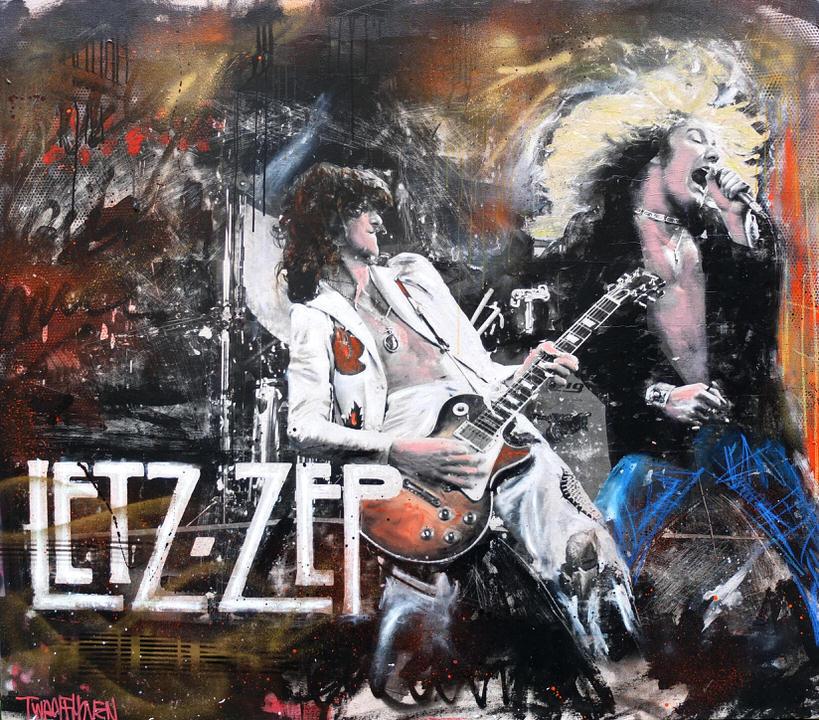 let zepplin Kunstenaar artist nick twaalfhoven popart neopop moderne kunst rock art music art muziek kunst