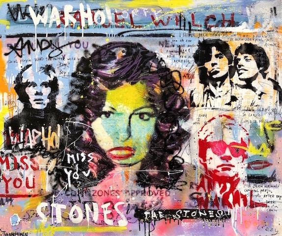 Some Girls Rolling Stones Kunstenaar artist nick twaalfhoven popart neopop moderne kunst rock art music art muziek kunst