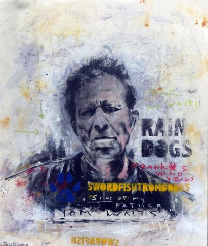 Tom Waits Nick Twaalfhoven Neo-pop pop-art kunst 120x100