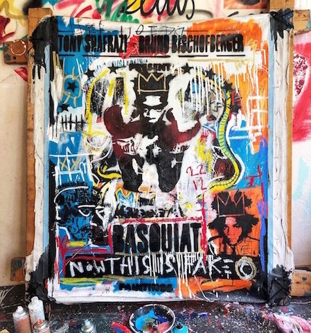 basquiat mixed media pop art neo pop music muziek moderne kunst schilderij artist nick twaalfhoven