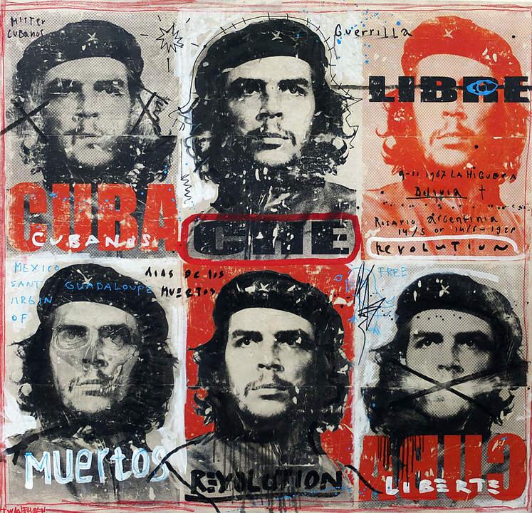 che cuba Kunstenaar artist nick twaalfhoven popart neopop moderne kunst rock art music art muziek kunst