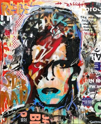 david bowie Kunstenaar artist nick twaalfhoven popart neopop moderne kunst rock art music art muziek kunst