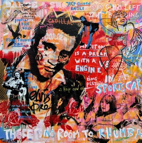 elvis Kunstenaar artist nick twaalfhoven popart neopop moderne kunst rock art music art muziek kunst