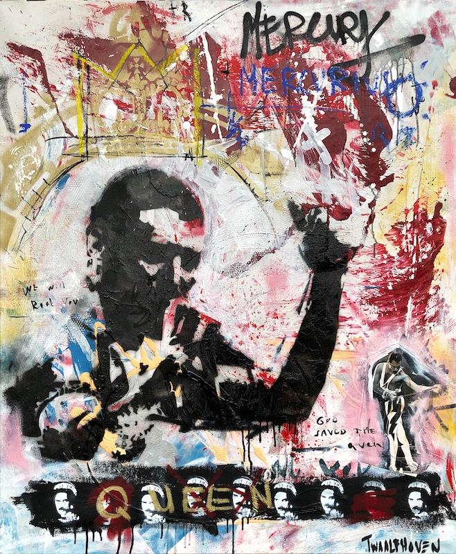 freddy mercury queen Kunstenaar artist nick twaalfhoven popart neopop moderne kunst rock art music art muziek kunst