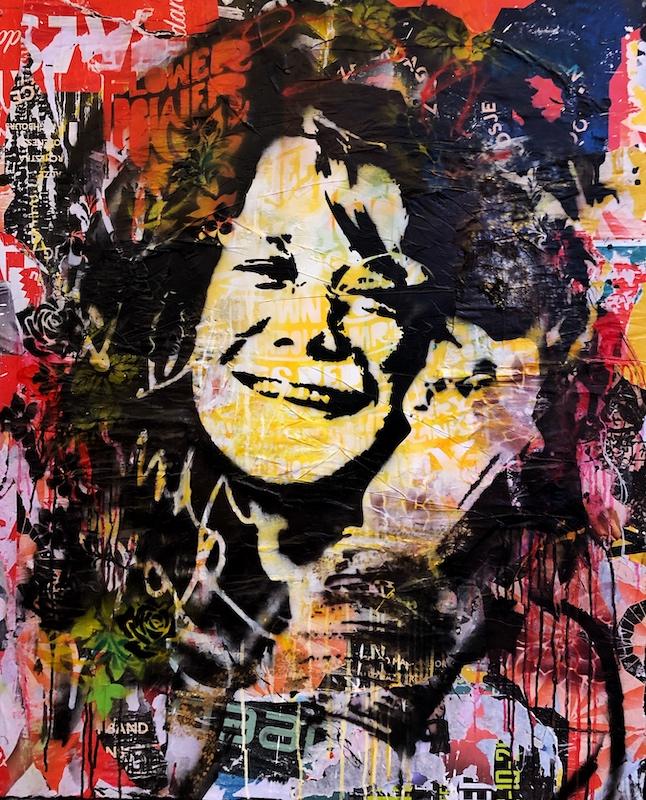 janis joplin Kunstenaar artist nick twaalfhoven popart neopop moderne kunst rock art music art muziek kunst