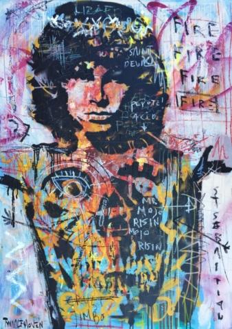 jim morrison Kunstenaar artist nick twaalfhoven popart neopop moderne kunst rock art music art muziek kunst