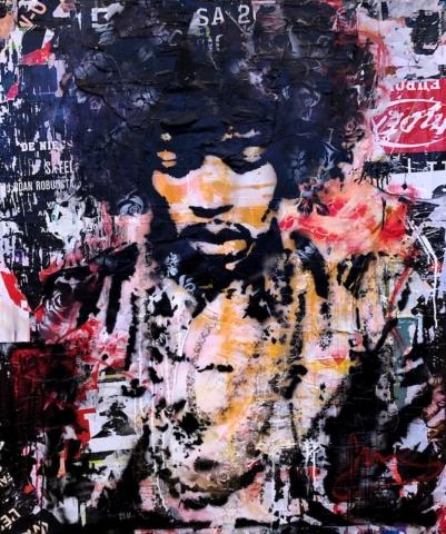 jimi hendrix Kunstenaar artist nick twaalfhoven popart neopop moderne kunst rock art music art muziek kunst