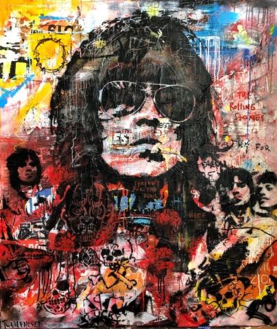 keith richards rolling stones Kunstenaar artist nick twaalfhoven popart neopop moderne kunst rock art music art muziek kunst