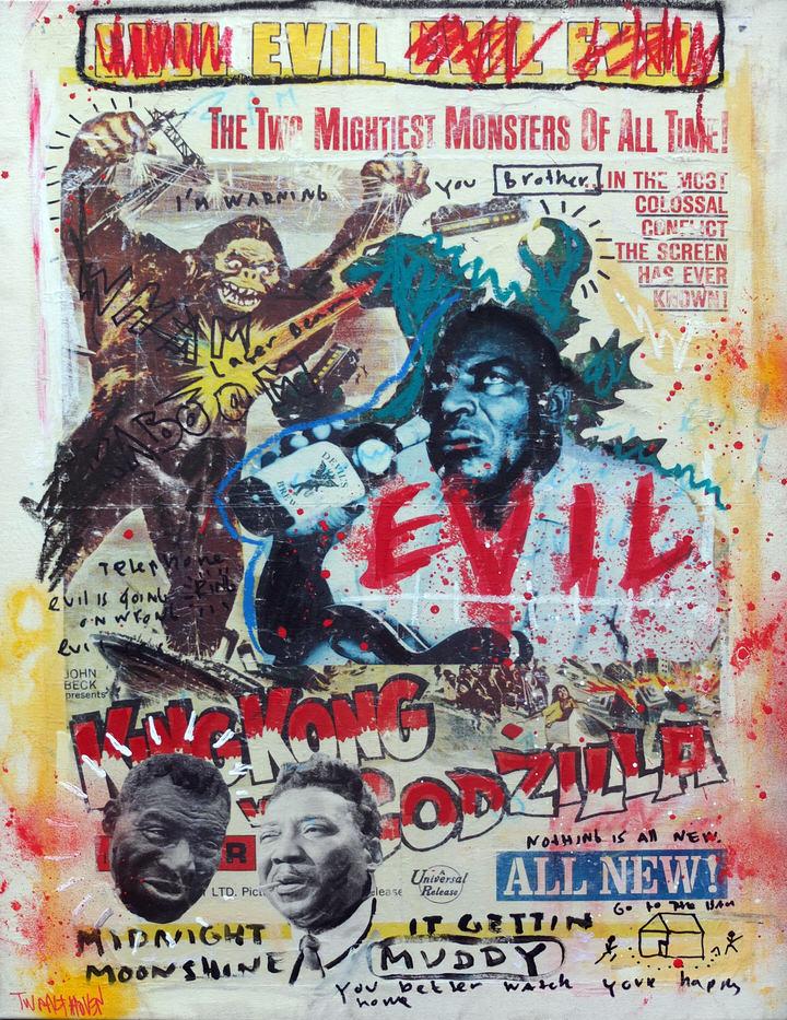 muddy waters howlin wolfnick twaalfhoven neopop 65x80 kunst moderne kunst art popart