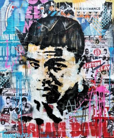 muhammad ali Kunstenaar artist nick twaalfhoven popart neopop moderne kunst rock art music art muziek kunst