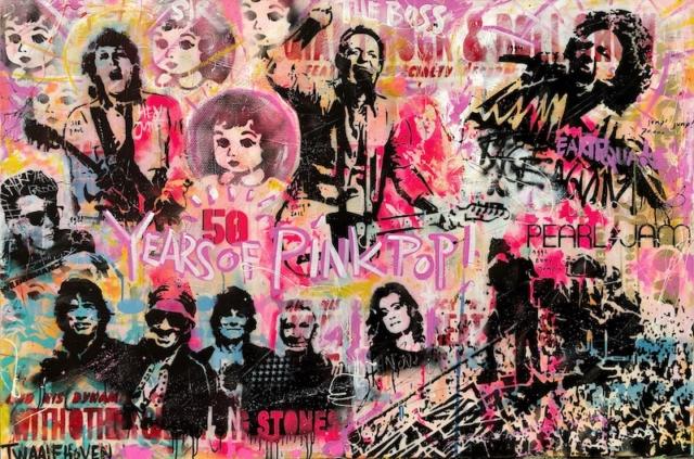 pinkpop Kunstenaar artist nick twaalfhoven popart neopop moderne kunst rock art music art muziek kunst