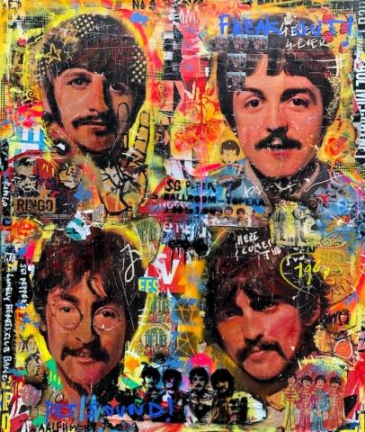 the beatles Kunstenaar artist nick twaalfhoven popart neopop moderne kunst rock art music art muziek kunst
