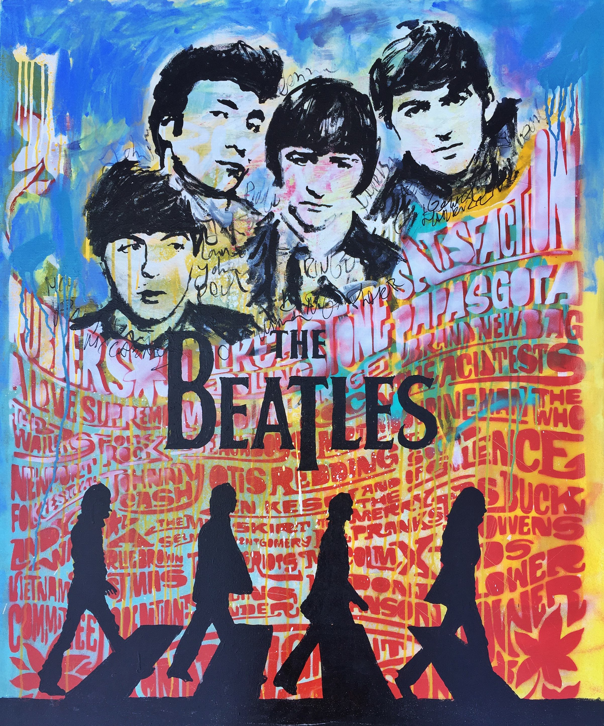 the beatles Kunstenaar artist nick twaalfhoven popart neopop moderne kunst rock art music art muziek kunst